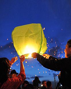 Небесные фонарики, воздушные шары, упаковка